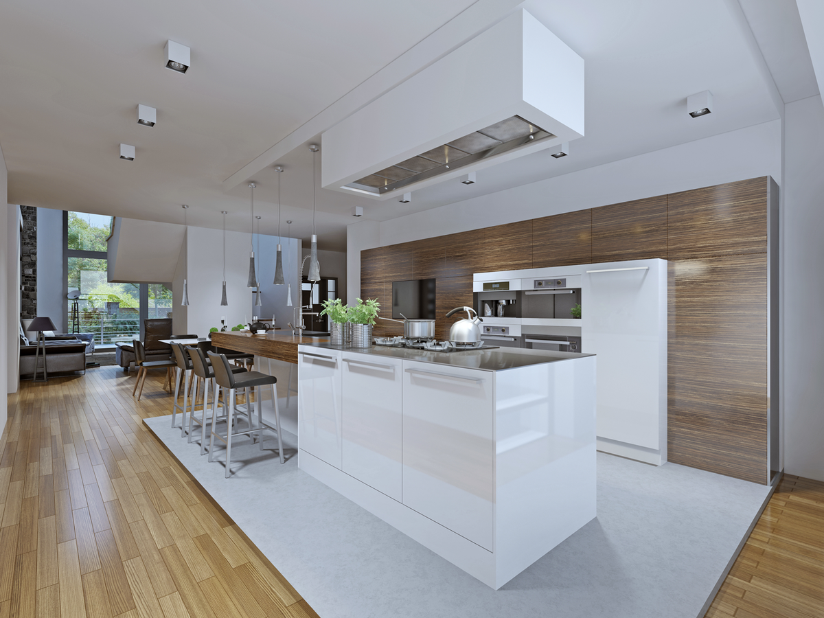 Bring your home into the 21st century with a modern kitchen renovation design that saves on space.