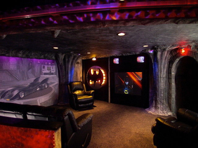 Turn your basement into the Bat Cave.
